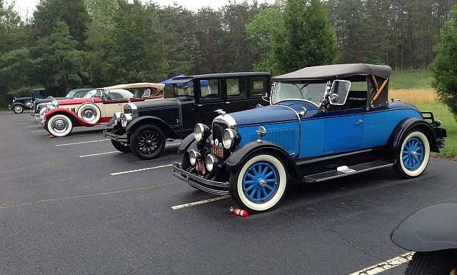 Image - Colorful Brass Era cars.